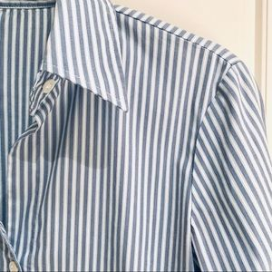 Theory Striped Button Down: Size 0